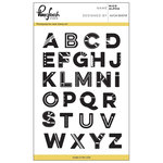Pinkfresh Studio - Clear Acrylic Stamps - Nico Alpha Set