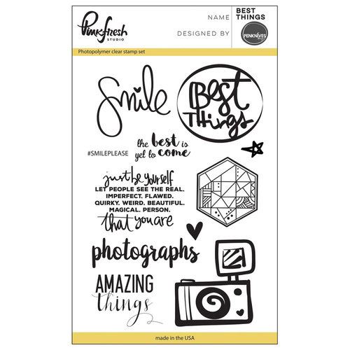 Pinkfresh Studio - Clear Photopolymer Stamps - Best Things