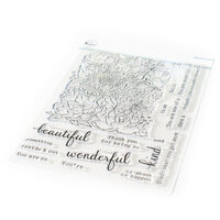 Pinkfresh Studio - Clear Photopolymer Stamps - Flower Garden
