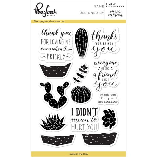 Pinkfresh Studio - Clear Photopolymer Stamps - Simply Succulents