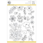 Pinkfresh Studio - Clear Acrylic Stamps - Fleur 1