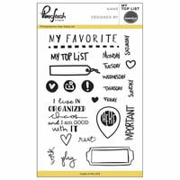 Pinkfresh Studio - Clear Photopolymer Stamps - My Top List