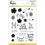 Pinkfresh Studio - Clear Acrylic Stamps - Say it with Florals