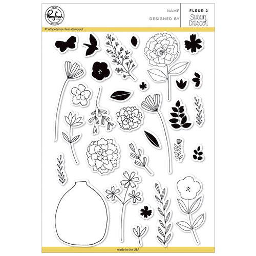 Pinkfresh Studio - Clear Photopolymer Stamps - Fleur 2