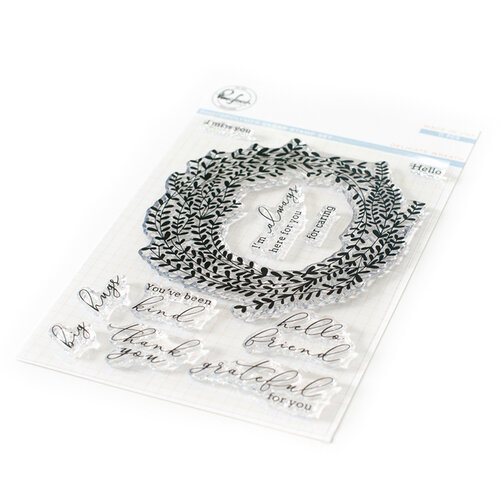 Pinkfresh Studio - Clear Photopolymer Stamps - Delicate Wreath