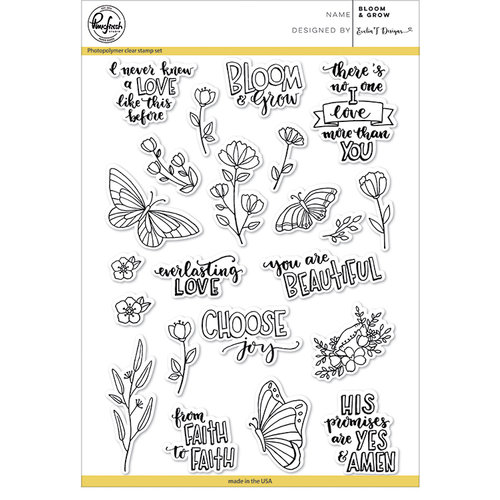 Pinkfresh Studio - Clear Photopolymer Stamps - Bloom and Grow