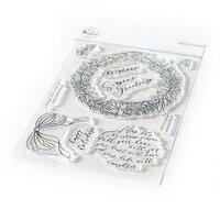Pinkfresh Studio - Christmas - Clear Photopolymer Stamps - Seasons Greetings Stamp Set