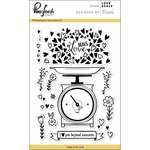 Pinkfresh Studio - Clear Acrylic Stamps - Love Scale