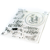 Pinkfresh Studio - Clear Photopolymer Stamps - Christmas - Merry and Bright Frame
