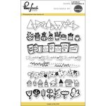 Pinkfresh Studio - Clear Acrylic Stamps - Lovely Borders 2