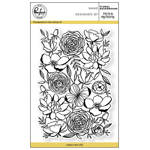 Pinkfresh Studio - Clear Acrylic Stamps - Floral Background