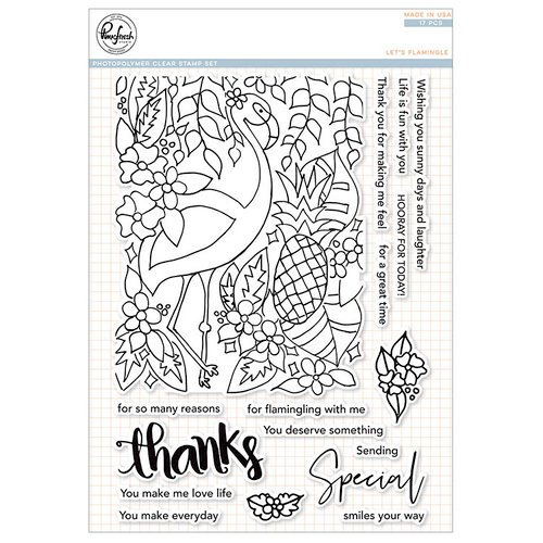 Pinkfresh Studio - Clear Photopolymer Stamps - Let's Flamingle
