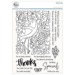 Pinkfresh Studio - Clear Acrylic Stamps - Let's Flamingle