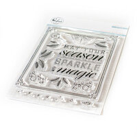 Pinkfresh Studio - Christmas - Clear Photopolymer Stamps - Sparkle With Magic Set