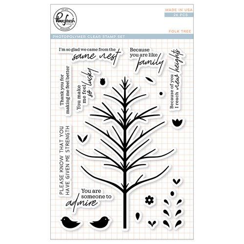 Pinkfresh Studio - Clear Photopolymer Stamps - Folk Tree