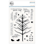 Pinkfresh Studio - Clear Acrylic Stamps - Folk Tree
