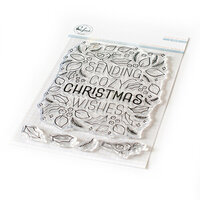 Pinkfresh Studio - Christmas - Clear Photopolymer Stamps - Cozy Christmas Wishes Stamp
