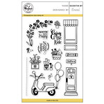 Pinkfresh Studio - Clear Acrylic Stamps - Scootin By