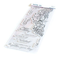 Pinkfresh Studio - Clear Photopolymer Stamps - Slimline - Floral Notes
