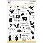 Pinkfresh Studio - Clear Acrylic Stamps - Playful Animal Friends - 1