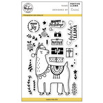 Pinkfresh Studio - Christmas - Clear Acrylic Stamps - Festive Llama