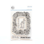 Pinkfresh Studio - Clear Photopolymer Stamps - Floral Frame