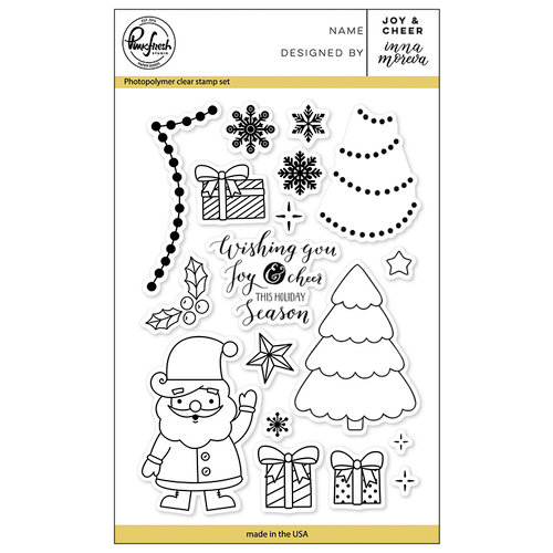 Pinkfresh Studio - Christmas - Clear Photopolymer Stamps - Joy and Cheer