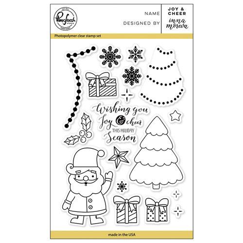 Pinkfresh Studio - Christmas - Clear Acrylic Stamps - Joy and Cheer