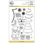 Pinkfresh Studio - Christmas - Clear Acrylic Stamps - Joy and Cheer