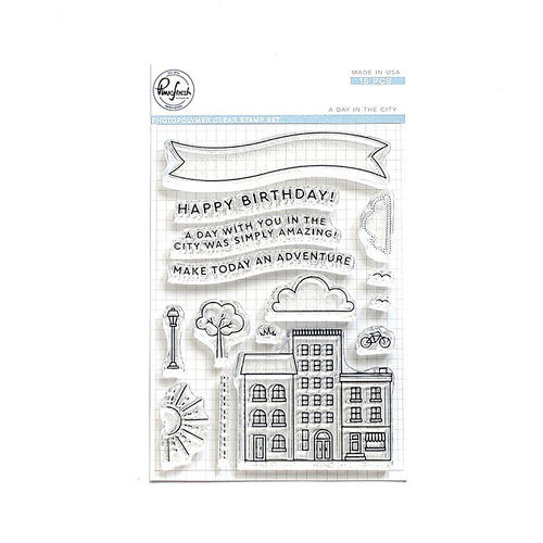 Pinkfresh Studio - Clear Photopolymer Stamps - A Day in the City