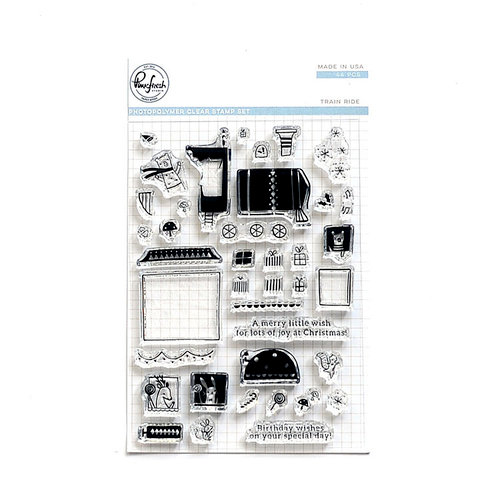 Pinkfresh Studio - Clear Photopolymer Stamps - Train Ride