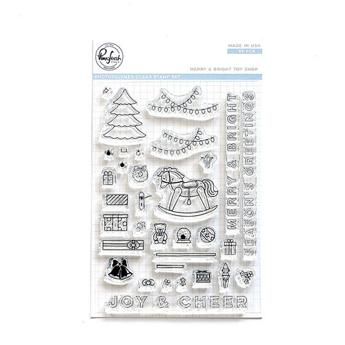 Pinkfresh Studio - Christmas - Clear Photopolymer Stamps - Merry and Bright Toy Shop