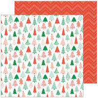 Pinkfresh Studio - Holiday Vibes Collection - Christmas - 12 x 12 Double Sided Paper - Magical Forest