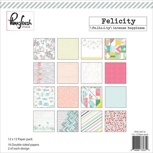 Pinkfresh Studio - Felicity Collection - 12 x 12 Paper Pack