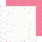 Pinkfresh Studio - Felicity Collection - 12 x 12 Double Sided Paper - Confetti Hearts