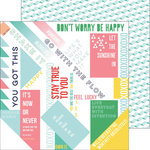 Pinkfresh Studio - Felicity Collection - 12 x 12 Double Sided Paper - Happy Words