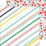 Pinkfresh Studio - Felicity Collection - 12 x 12 Double Sided Paper - Pretty Stripes