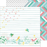 Pinkfresh Studio - Felicity Collection - 12 x 12 Double Sided Paper - Confetti Garden