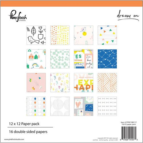Pinkfresh Studio - Dream On Collection - 12 x 12 Paper Pack