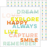 Pinkfresh Studio - Dream On Collection - 12 x 12 Double Sided Paper - Aspire