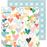 Pinkfresh Studio - Let Your Heart Decide Collection - 12 x 12 Double Sided Paper - Caper