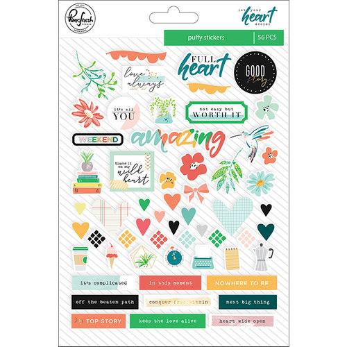 Pinkfresh Studio - Let Your Heart Decide Collection - Puffy Stickers