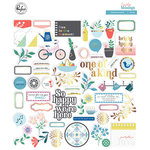 Pinkfresh Studio - Everyday Musings Collection - Ephemera Pack with Foil Accents