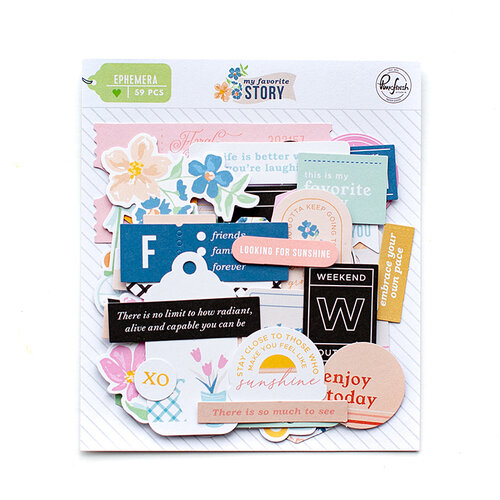 Pinkfresh Studio - My Favorite Story Collection - Embellishments - Ephemera Pack
