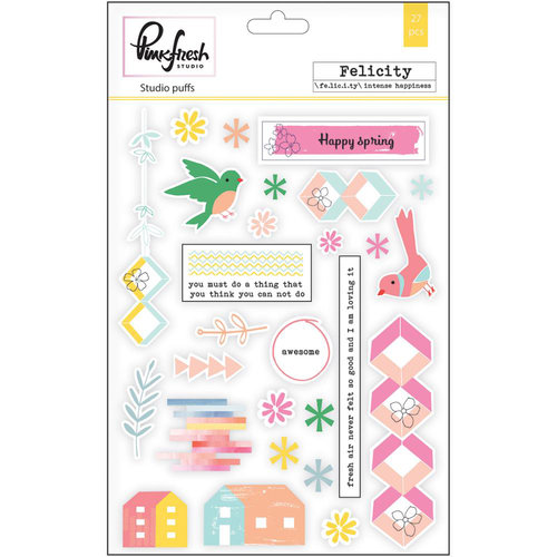 Pinkfresh Studio - Felicity Collection - Studio Puffs - Puffy Stickers