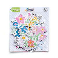 Pinkfresh Studio - My Favorite Story Collection - Embellishments - Floral Ephemera Pack