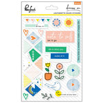 Pinkfresh Studio - Dream On Collection - Leatherette Stickers - Shapes