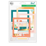 Pinkfresh Studio - Let Your Heart Decide Collection - Stitched Frames with Foil Accents