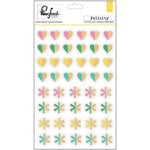 Pinkfresh Studio - Felicity Collection - Block Wood Stickers - Color