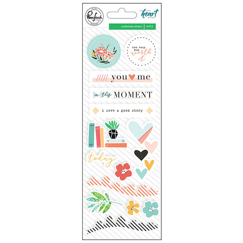Pinkfresh Studio - Let Your Heart Decide Collection - Leatherette Stickers